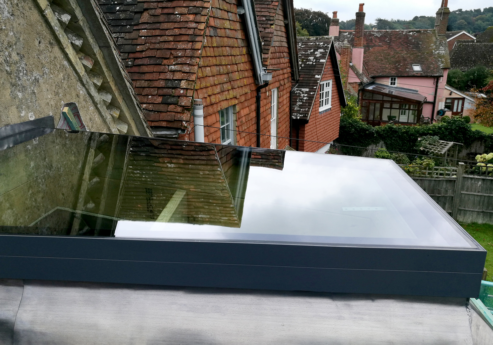 pure glass flat roof light sandrock church