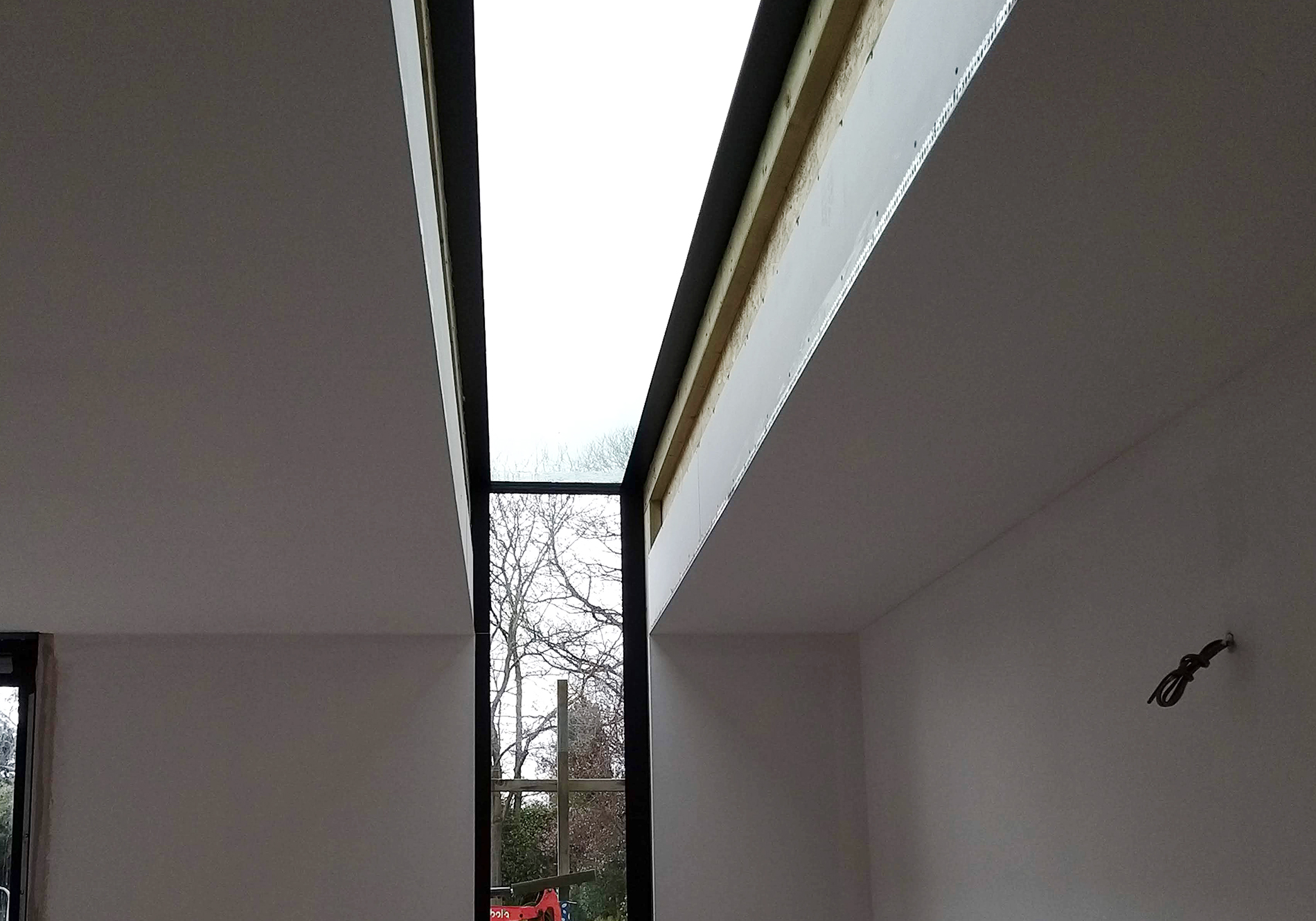 pure glass bepsoke glass eaves internal view