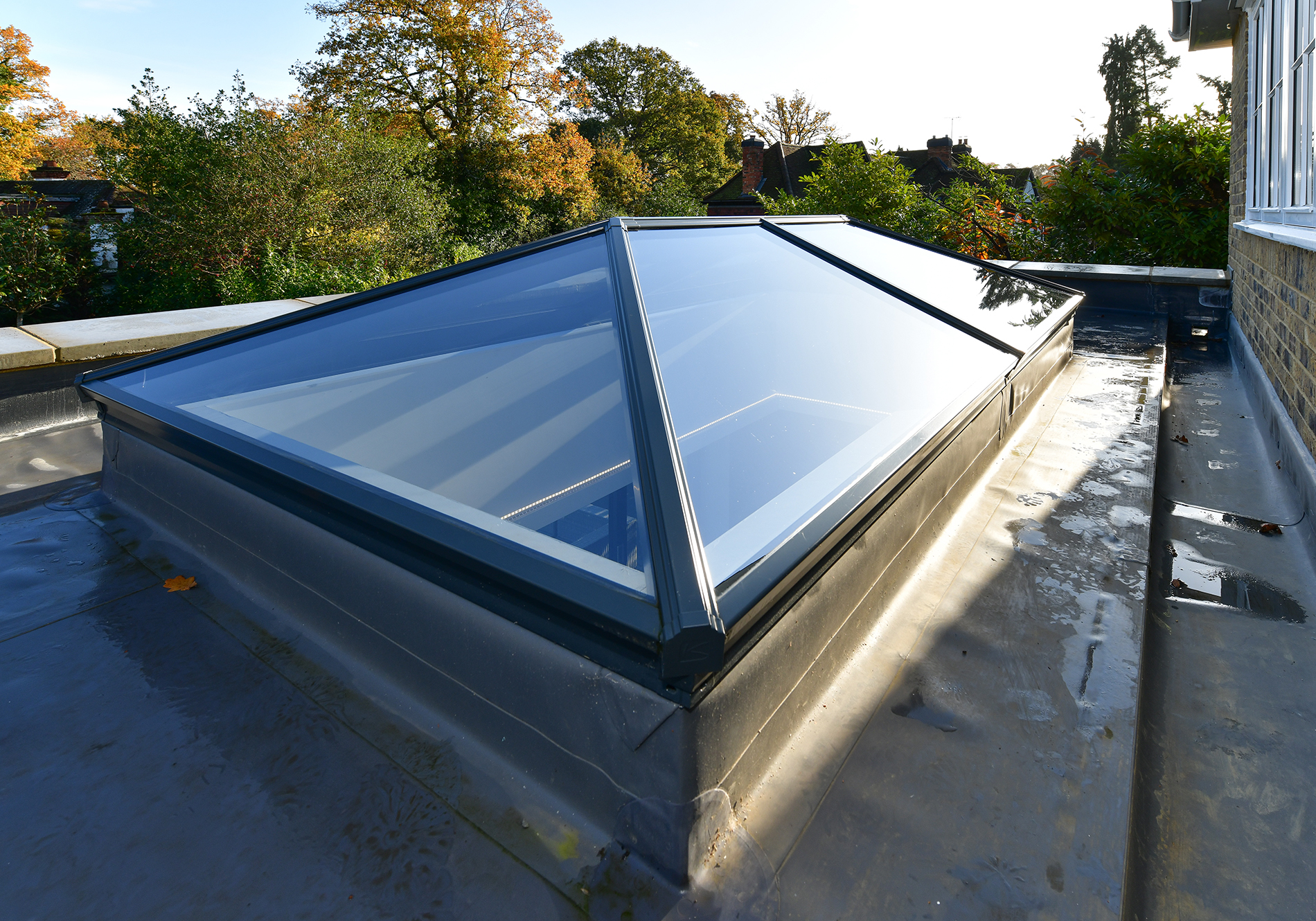external view of aluminium roof lantern