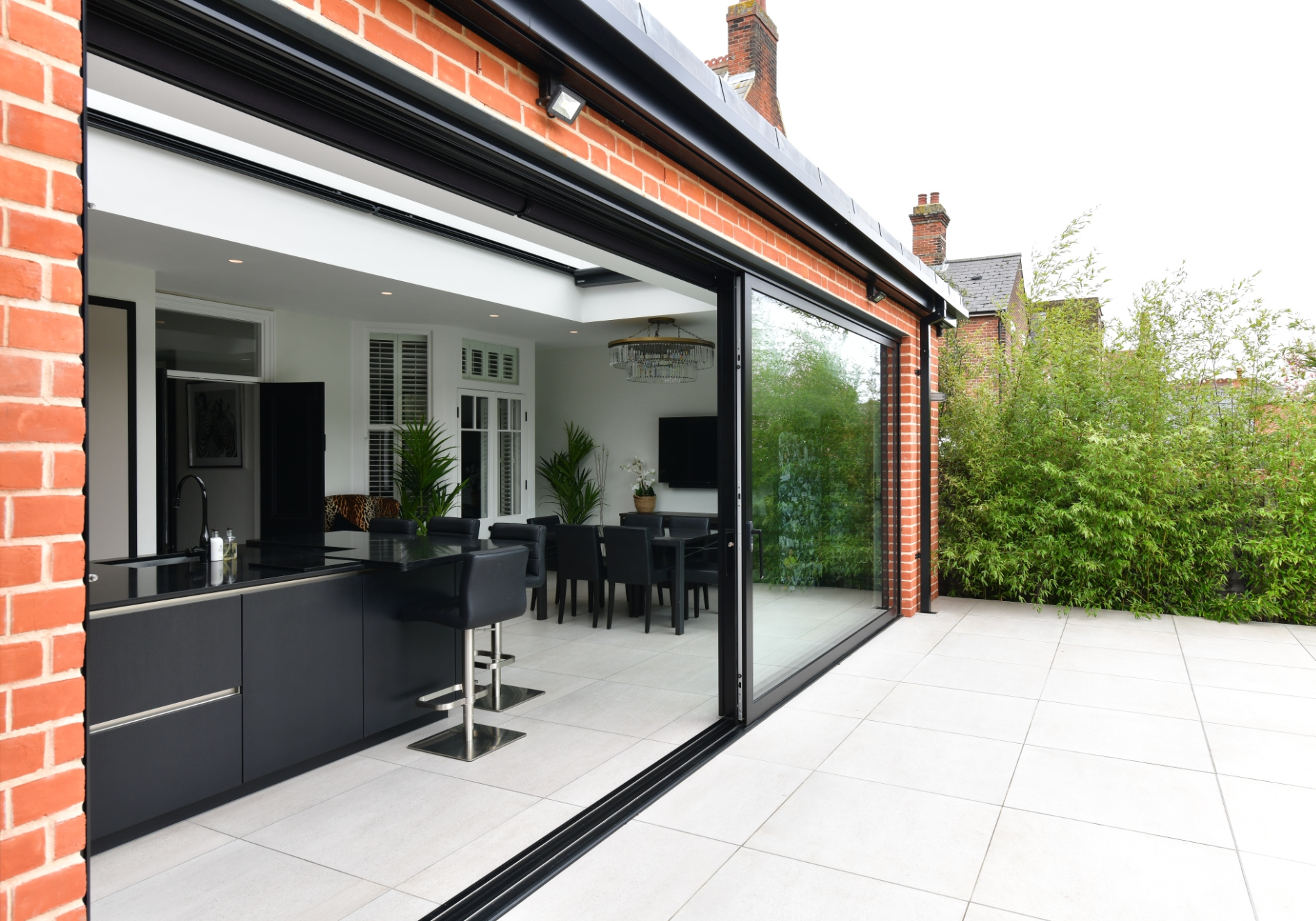Colchester rear extension featuring Glide S sliding Doors with a flush threshold for step free access