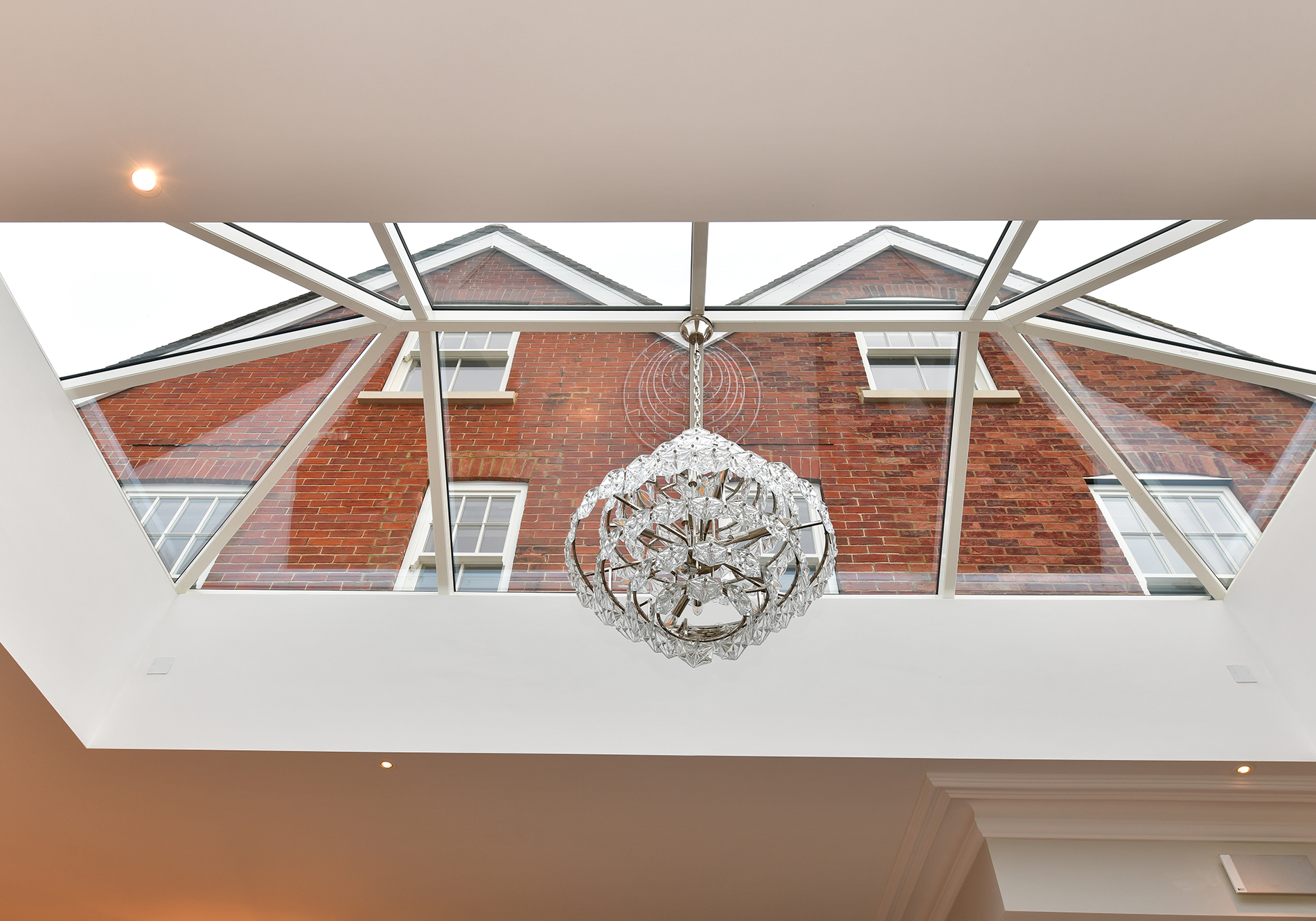 aluminium roof lantern in edwardian renovation