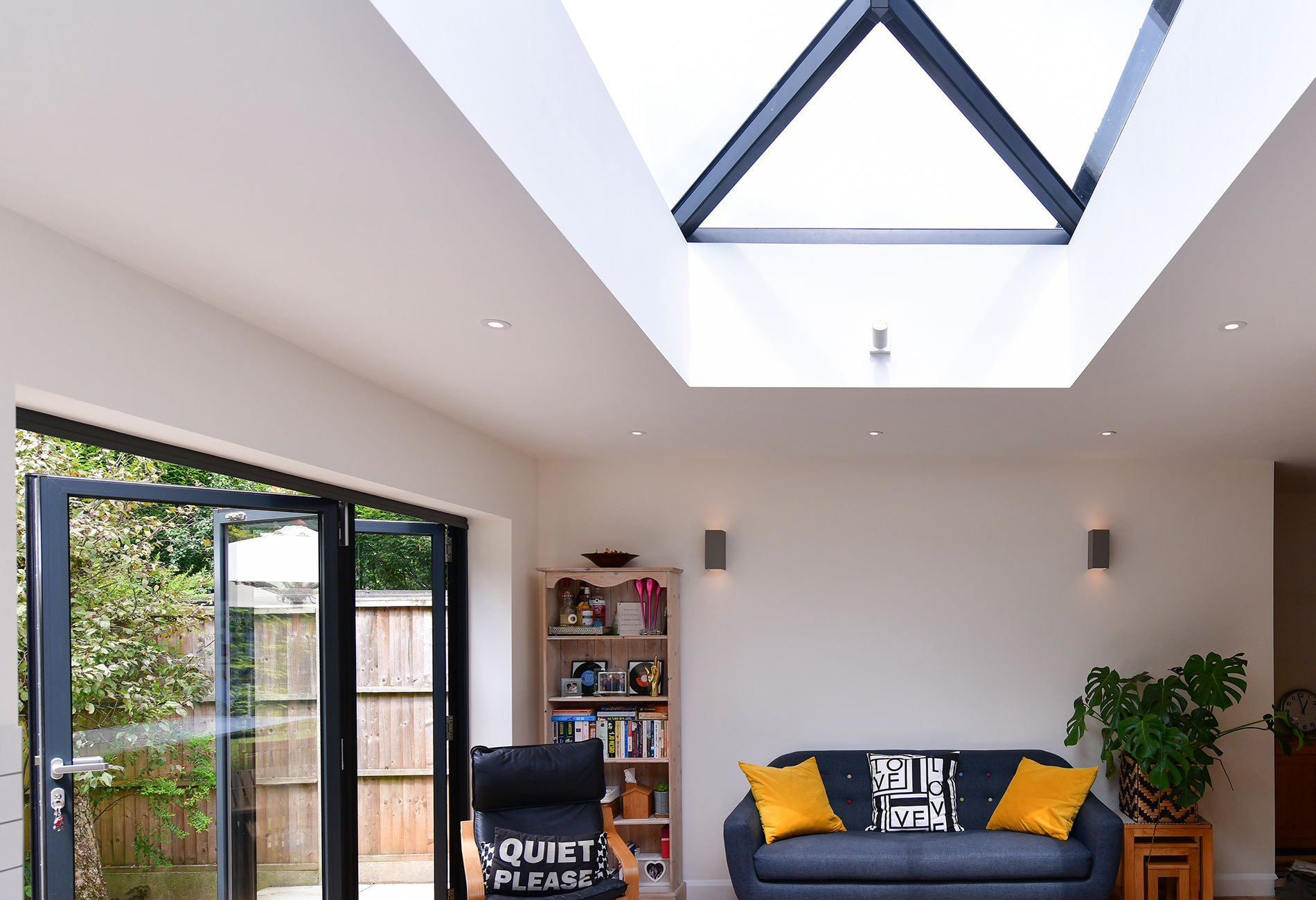 transformed living space with fd85 and aluminium roof lantern