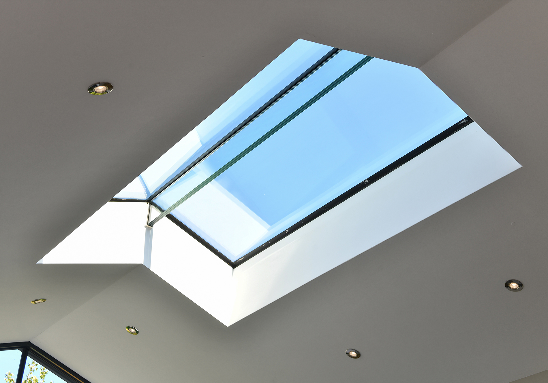Exact architectural glazing pure glass ridge light
