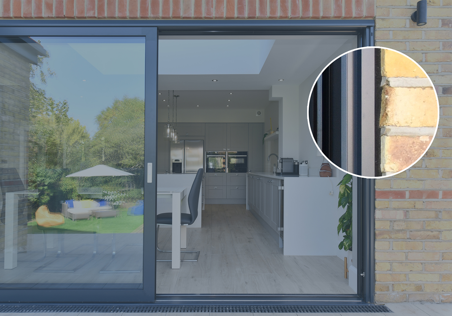 Hannoband 3E used to create seamless finish on Glide S Sliding doors by Exact Architectural Glazing