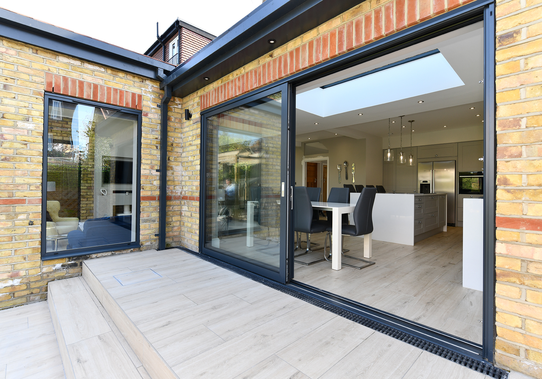 flush threshold with Glide S sliding doors by Exact Architectural Glazing