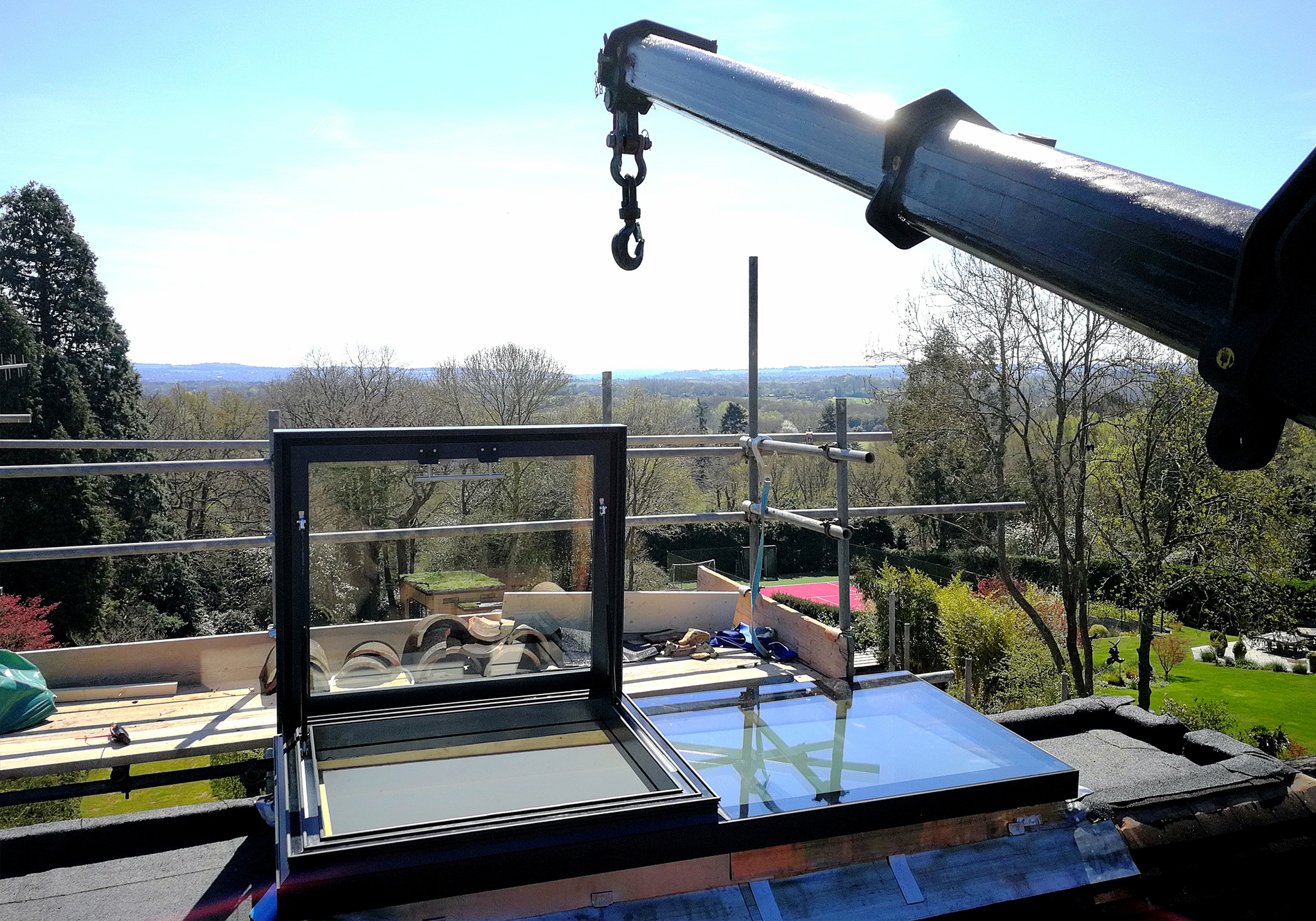 opening flat roof light