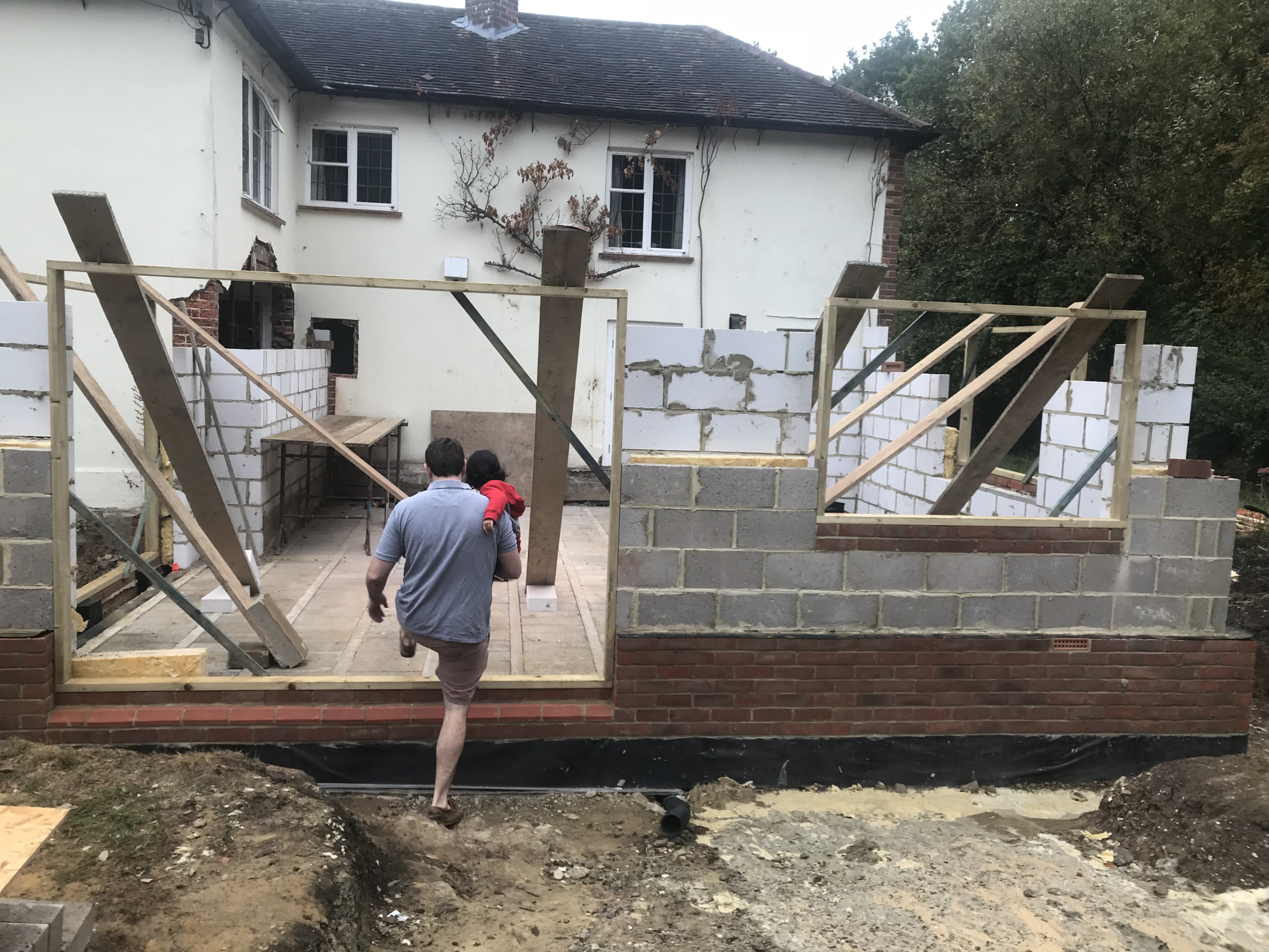 work in progress on the East Horsley kitchen extension