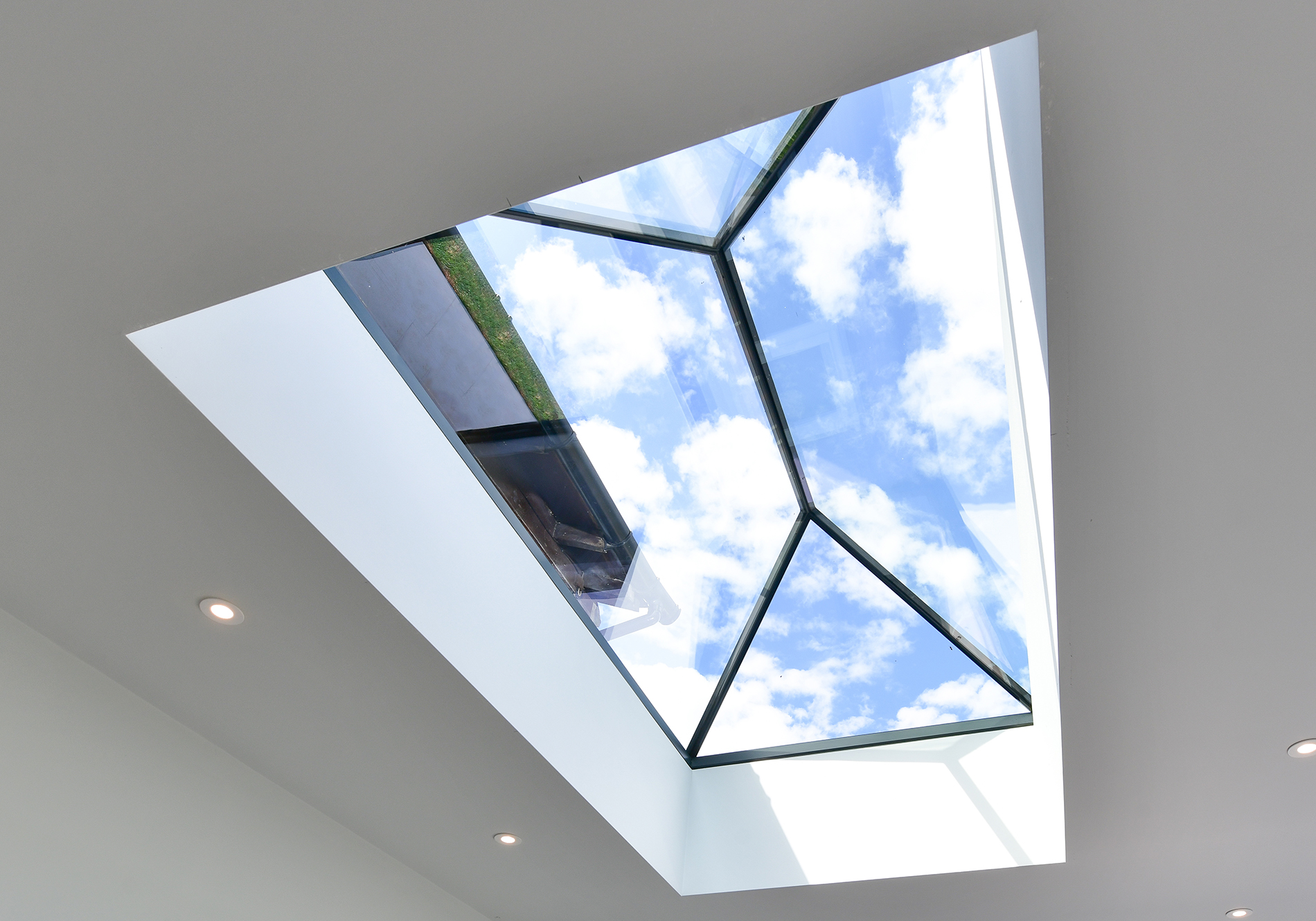 pure glass roof lantern in hampshire