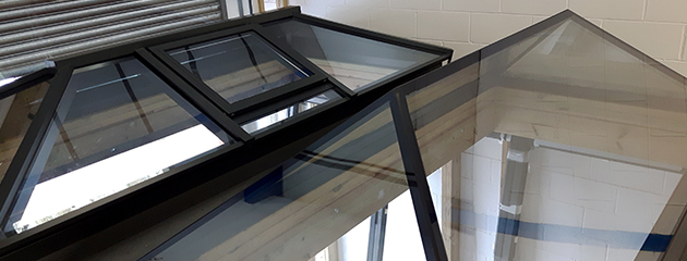 XACT : Two roof lanterns installed at showroom in Liphook